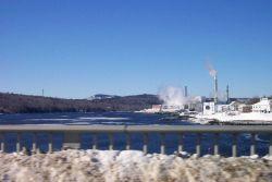 The paper mill at Bucksport from the Bucksport-Verona Bridge. Photo