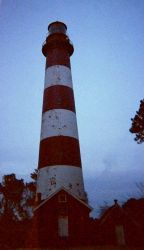 Assateague Lighthouse at dusk. Photo