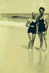 Lieutenant Wilbur Porter and wife Effey at the beach. Photo