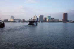 Norfolk skyline as seen from Portsmouth. Photo