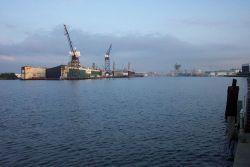 Shipyards on the Elizabeth River, Norfolk. Photo