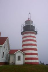 West Quoddy Head Lighthouse, the easternmost point in the contiguous United States. Photo