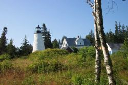 Dices Head Lighthouse at Castine. Photo