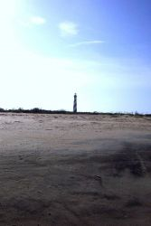 Cape Hatteras Lighthouse as seen from the Atlantic shore. Photo