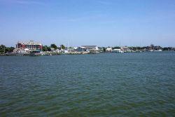 Approaching Ocracoke on the Cedar Island to Ocracoke ferry. Photo