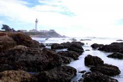 Pigeon Point Lighthouse as seen from the north. Photo