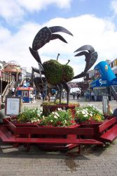 A crab sculpture on Pier 39, near Fisherman's Wharf. Photo