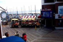 An open-air produce market on Pier 39, near Fisherman's Wharf. Photo