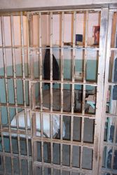 A prisoner's cell at Alcatraz. Photo