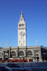 The Ferry Building - a San Francisco landmark along the Embarcadero. Photo
