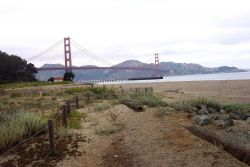 The Golden Gate Bridge as seen from the NOAA Gulf of the Farallons National Marine Sanctuary Headquarters. Photo