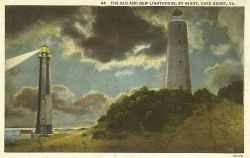 The old and new lighthouse at Cape Henry. Photo