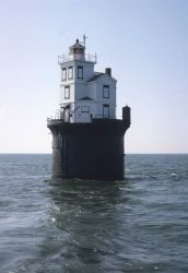 Fourteen Foot Bank Lighthouse on Delaware Bay. Photo