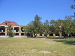 On the Fort Jefferson parade ground. Photo
