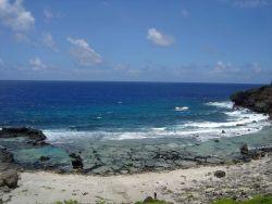 Coast near Forbidden Island, Saipan. Photo