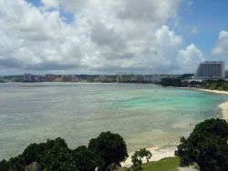 Tumon Bay resort area on the Guam coastline. Photo