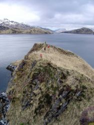 Shoreline survey team on Unalaska Island. Photo
