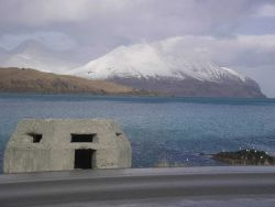 A World War II concrete bunker at Dutch Harbor. Photo