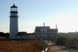 Highland Lighthouse in the late afternoon sun. Photo
