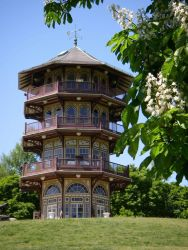 The Patterson Park Pagoda on Fort Hill, Baltimore. Photo