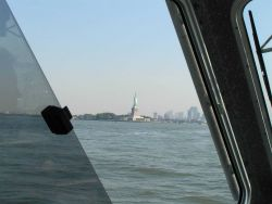 Statue of Liberty seen from a NOAA Ship THOMAS JEFFERSON survey launch. Photo