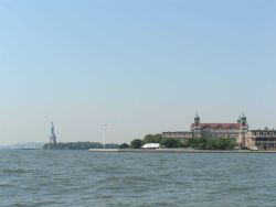 Ellis Island and the Statue of Liberty Photo