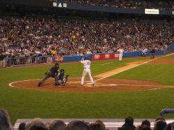 Yankee Stadium - Damon at bat Photo