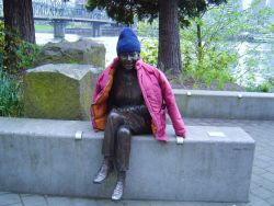 Even statues get cold Photo