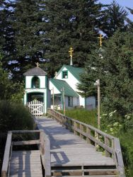 The Russian Orthodox Church on Spruce Island Photo