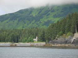 Russian Orthodox Church hostel at Monk's Lagoon on Icon Bay Photo