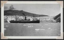 Tourist steamer at Taku Glacier. Photo
