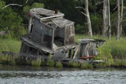 A derelict along the Cape Fear River. Photo