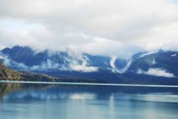 Looking at the eastern shore of Glacier Bay from Blue Mouse Cove Photo
