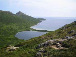 Sandy Cove on Little Koniuji Island. Photo