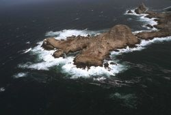 Aerial views of the wind-swept sea-swept Farallons, a virtual wilderness less than thirty miles from downtown San Francisco Photo