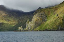 A rugged portion of the coast of Unalaska Island Image