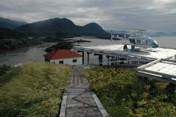 Looking to the east from Cape Spencer Lighthouse - northern entrance to the Inside Passage from the Gulf of Alaska. Photo