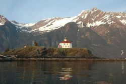 Eldred Rock Lighthouse in Lynn Canal. Photo