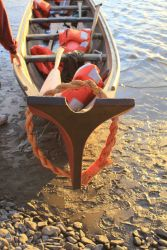 Tlingit cedar canoe made at Sitka National Historic Park as part of revival of Tlingit culture Photo