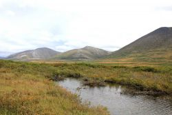 A small stream leading to Salmon Lake north of Nome Image
