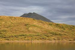 A scene looking over Salmon Lake at the BLM campground. Image