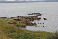 Remains of Yukon River paddlewheel steamers Photo