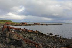 Remains of Yukon River paddlewheel steamers Photo