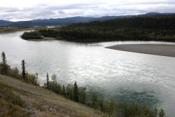A scene along the Peel River on the Dempster Highway. Image