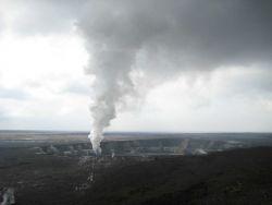 Halemaumau Crater within Kilauea Caldera at Hawaii Volcanoes National Park. Photo
