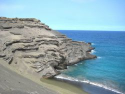 Bedded volcanic ash flows Photo