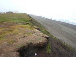 Eroding shoreline at Barrow Photo