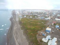 Aerial view of Barrow. Image