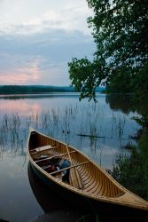 Canoeing in the serene waters of the St Photo