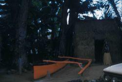 A native outrigger canoe Photo
